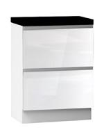 Кухня Cristal 2 Тумба низ 2Я 600 со скрытым ящиком