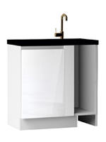 Кухня Cristal 3 Тумба-заглушка мойка низ 880 1Д ЛВ